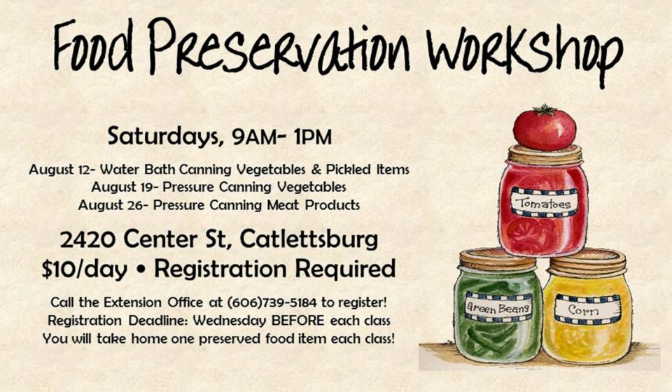Canning Class, August 26