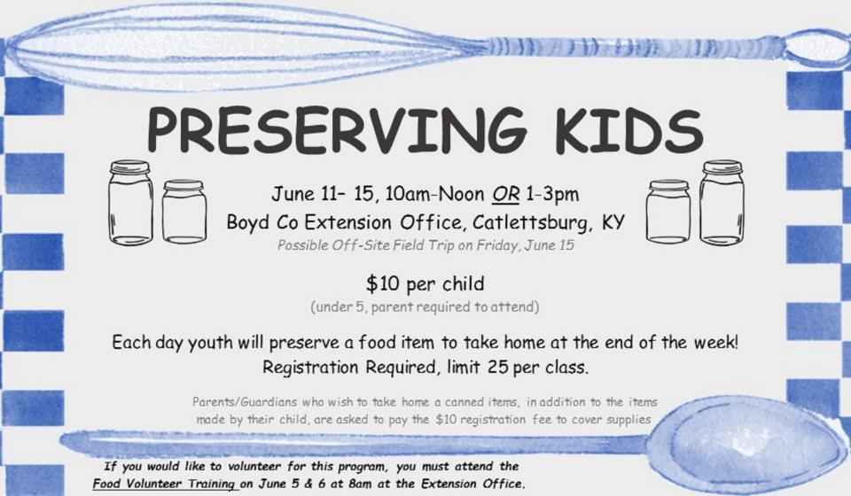 Preserving Kids, REGISTER TODAY!