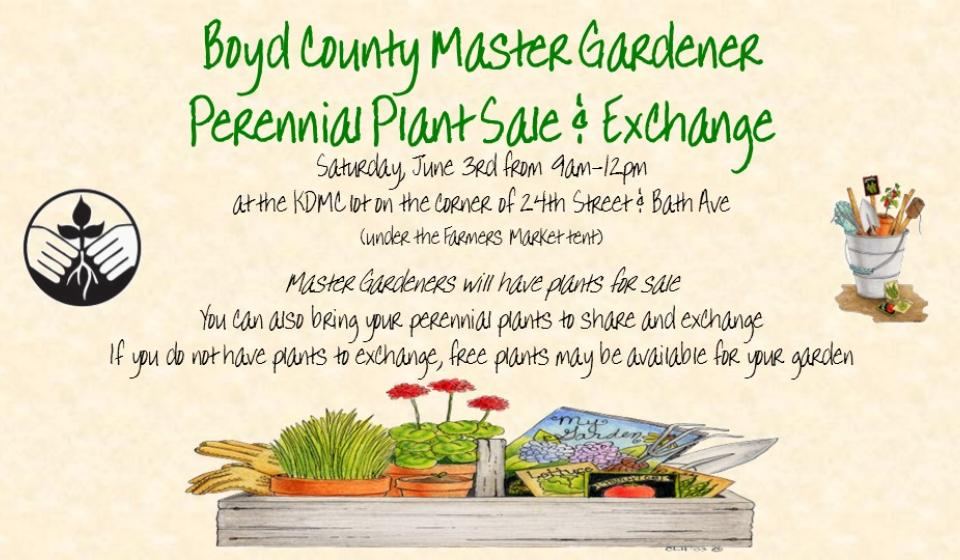 Plant Sale and Exchange, June 3