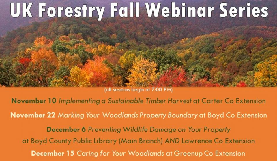 UK Forestry Fall Webinar Series, December 6