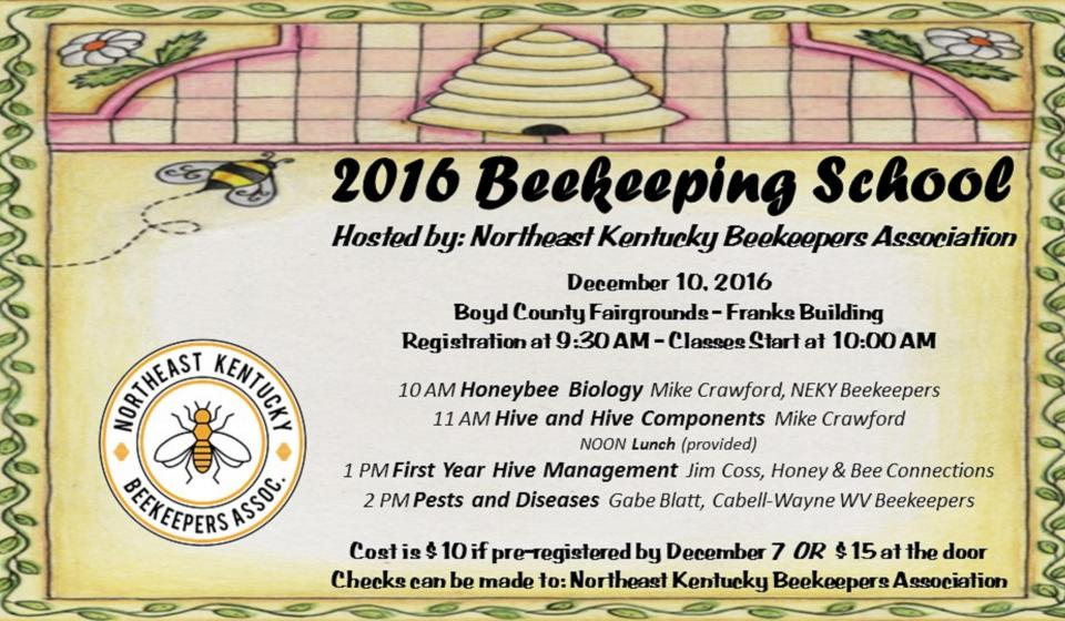 Beekeeping School, December 10