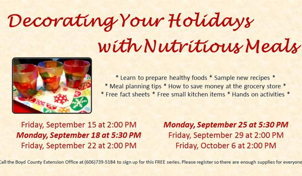 Decorating Your Holidays with Nutritious Meals