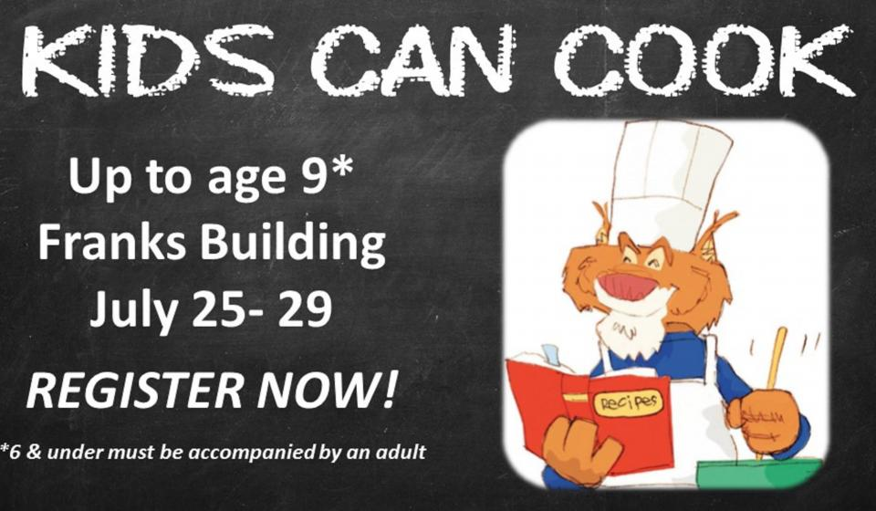 Kids Can Cook, Register Now!