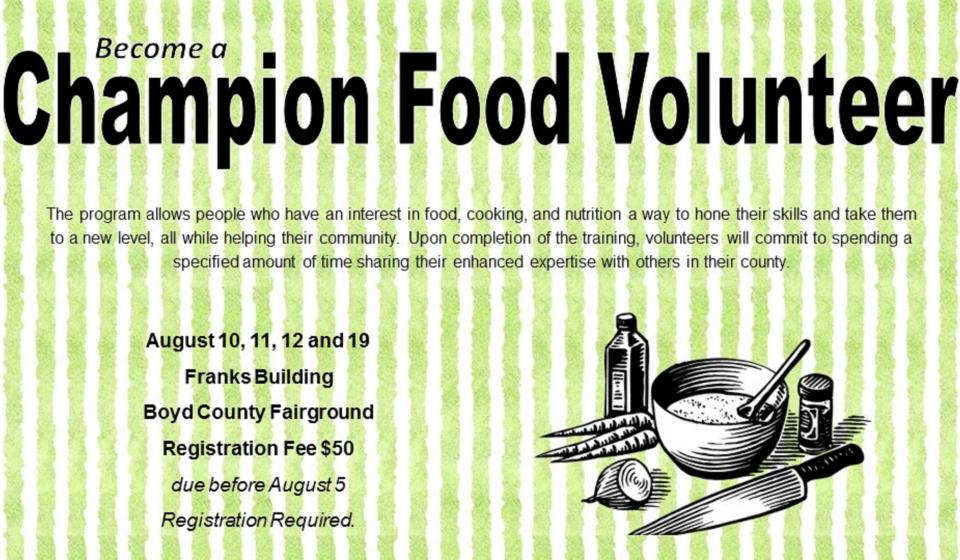 Become a Champion Food Volunteer