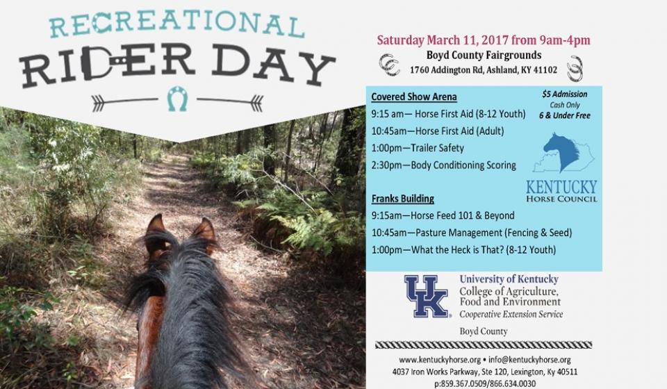 Recreational Rider Day, March 11