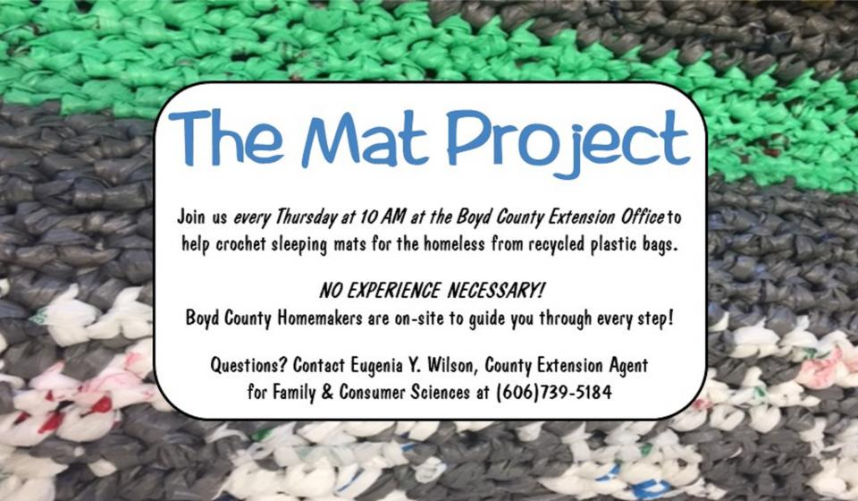 Mat Project, meets Thursdays at 10am