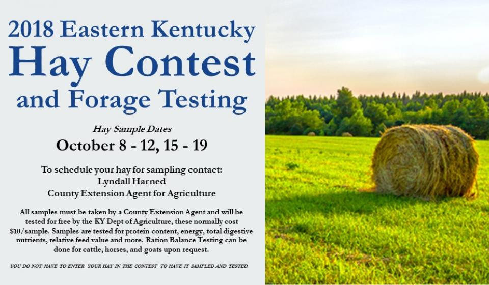 Call to schedule your hay sample now!